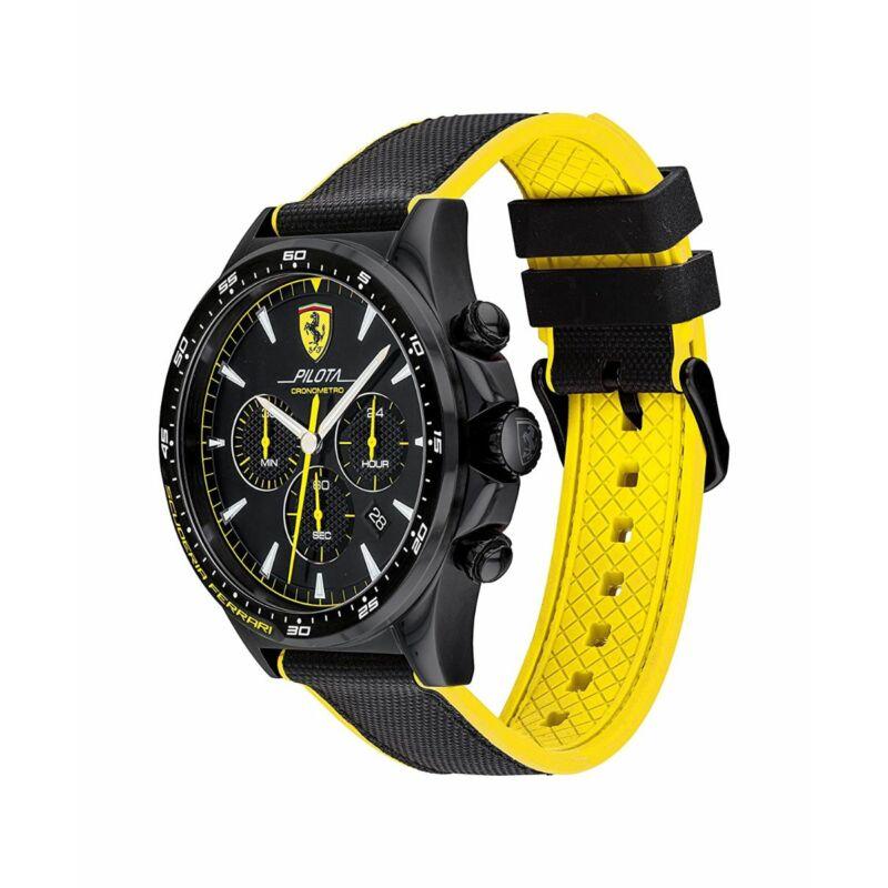 Ferrari óra - Pilota Chrono fekete-sárga
