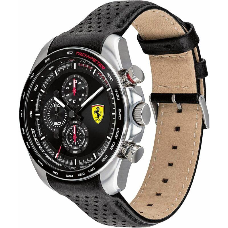 Ferrari óra - Speed Racer Leather Chrono fekete-antracit