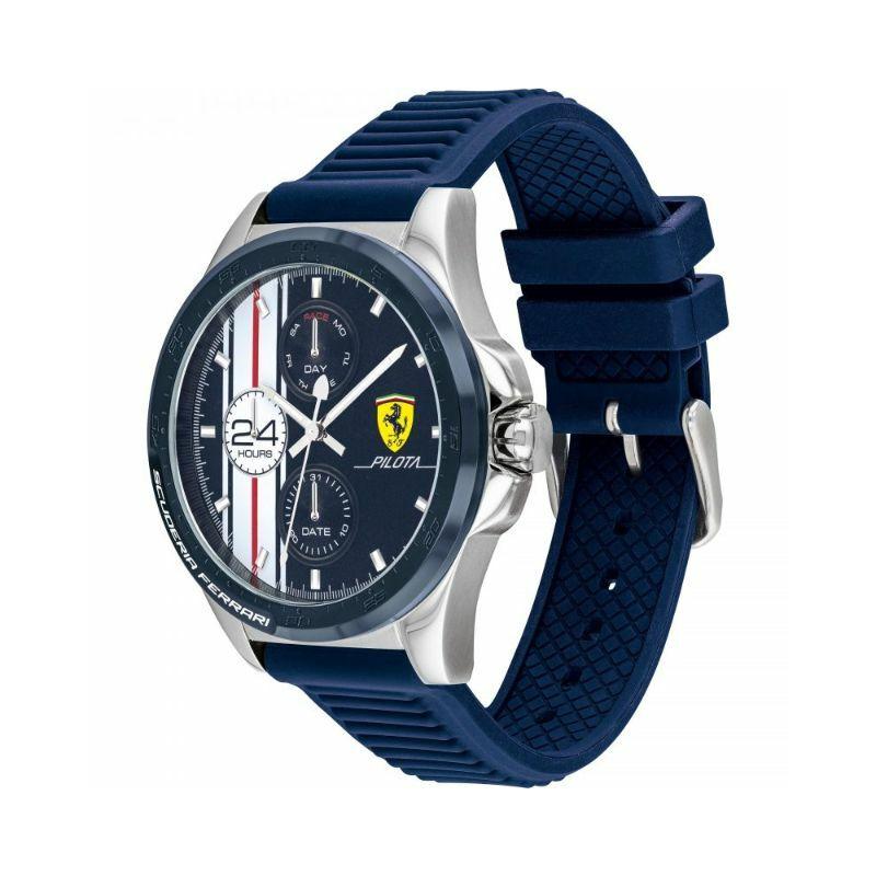 Ferrari óra - Pilota Stripes Chrono kék