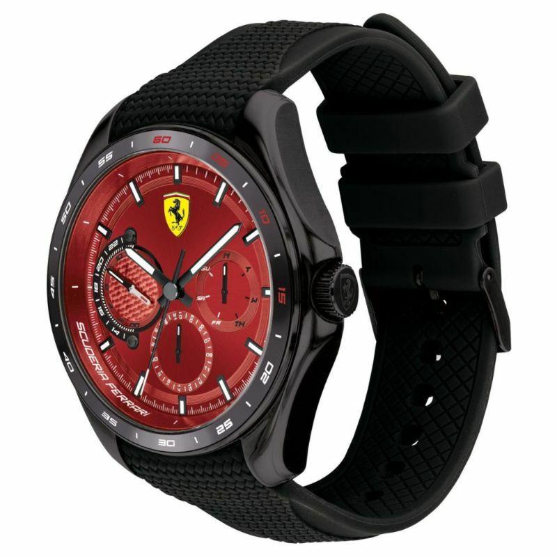 Ferrari óra - Speed Racer Chrono fekete-piros