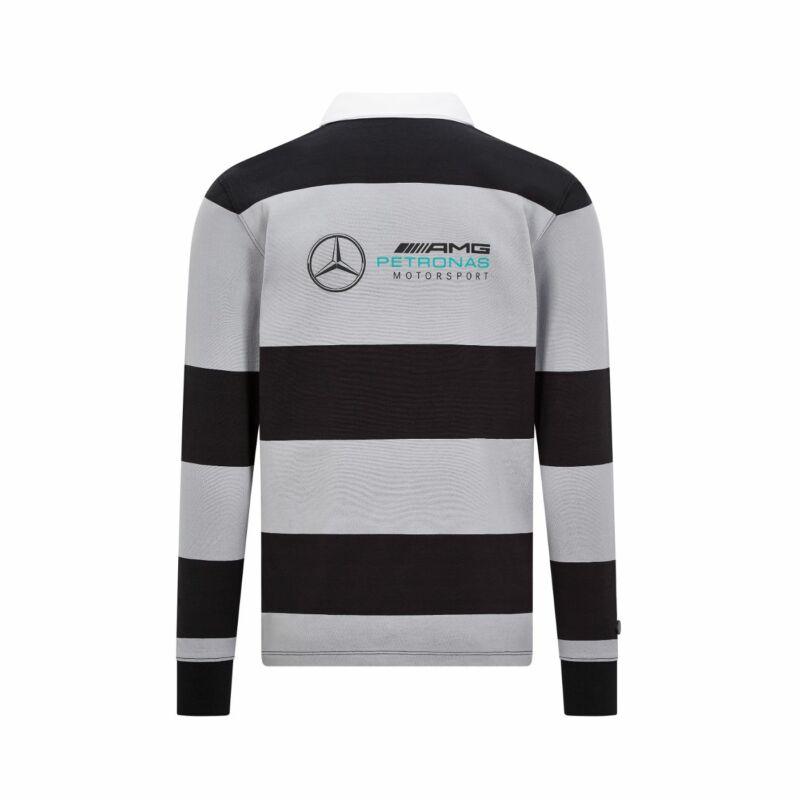 Mercedes AMG Petronas hosszúujjú galléros póló - Team Logo