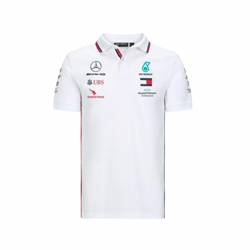 Mercedes AMG Petronas galléros póló - Team Line White