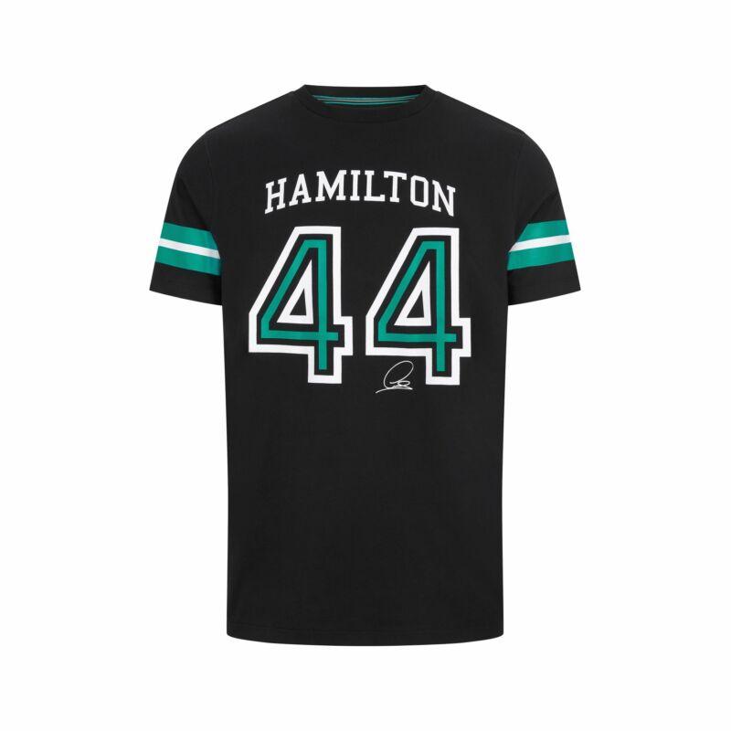 Mercedes AMG Petronas póló - Hamilton 44 fekete