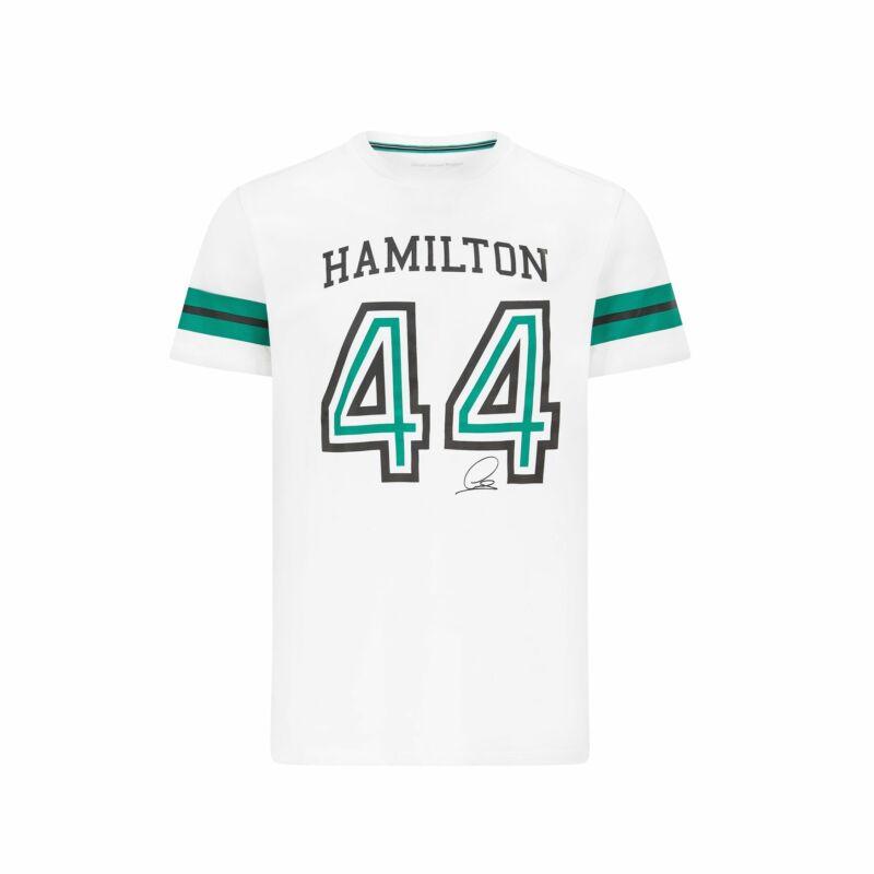Mercedes AMG Petronas póló - Hamilton 44 fehér