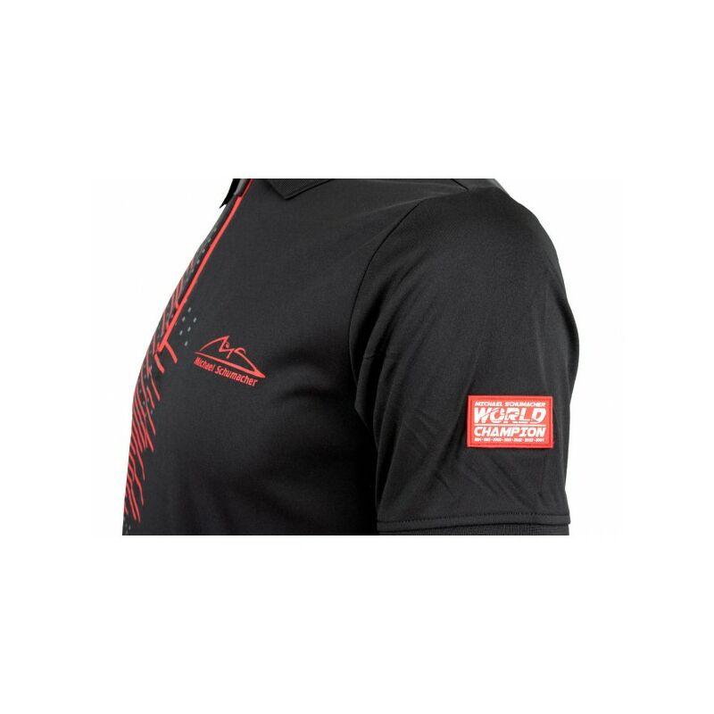 Schumacher galléros póló - MS Logo Duocolor fekete