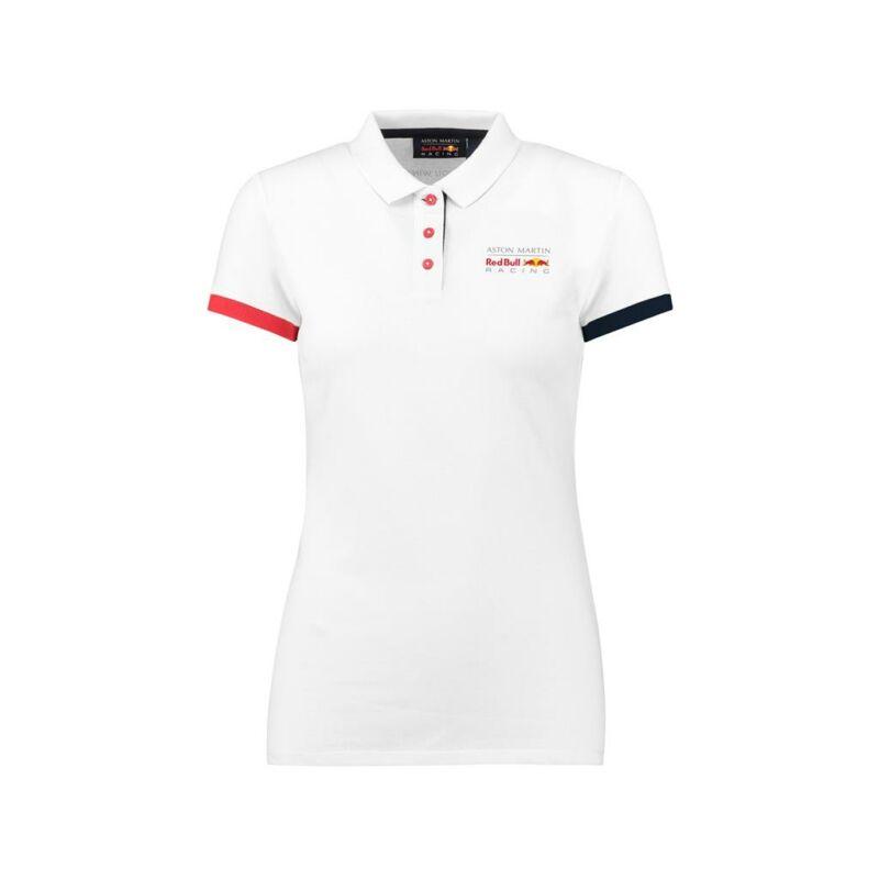 Red Bull Racing női galléros póló - Small Team Logo Classic fehér