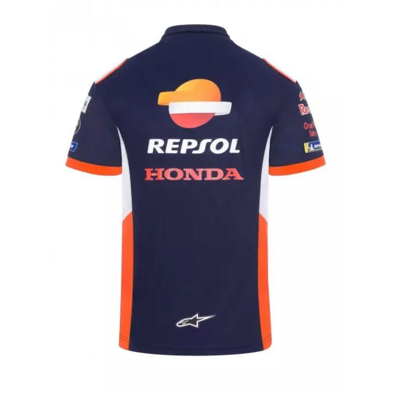 Repsol Honda galléros póló - Team kék