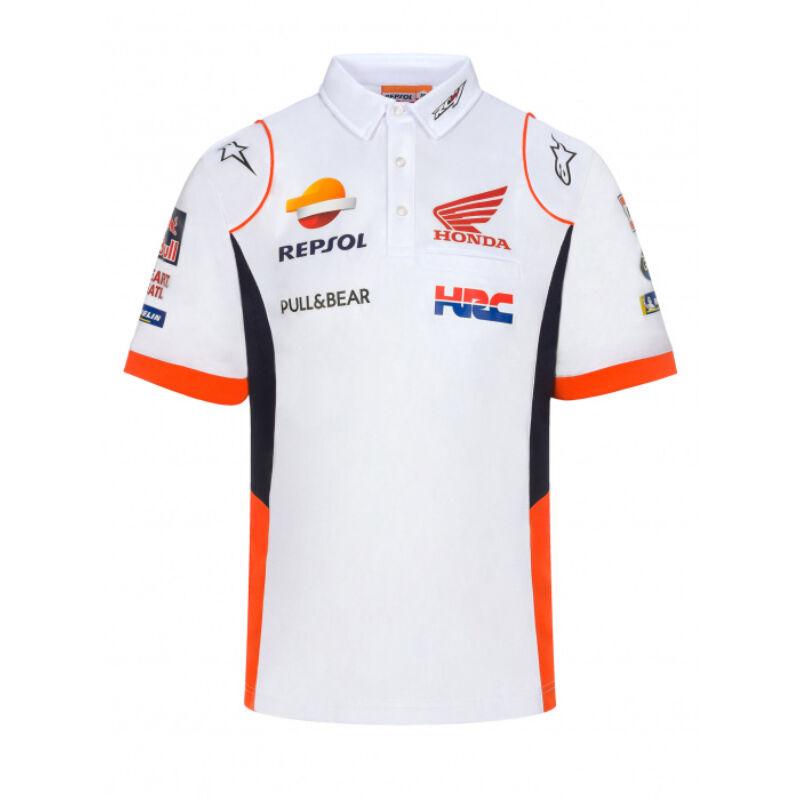 Repsol Honda galléros póló - Team fehér
