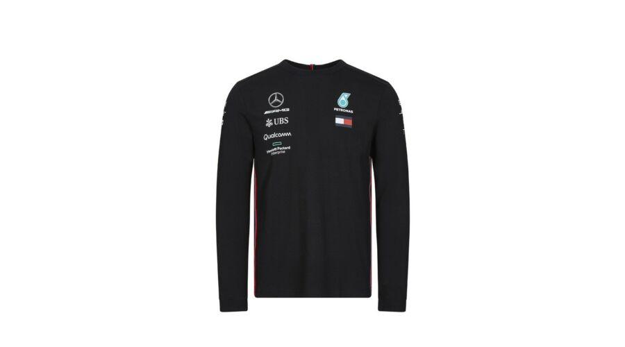 Mercedes AMG Petronas hosszú ujjú póló Team Black